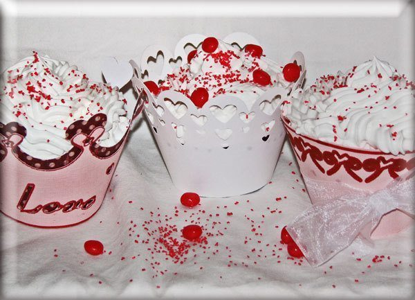 Valentine Cupcake Wrappers  Blackleaf Design    Mygrafico