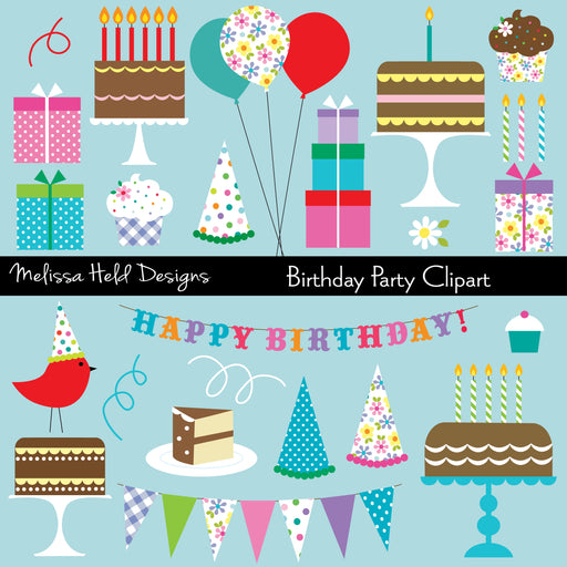 Birthday Party Clipart Cliparts Melissa Held Designs    Mygrafico