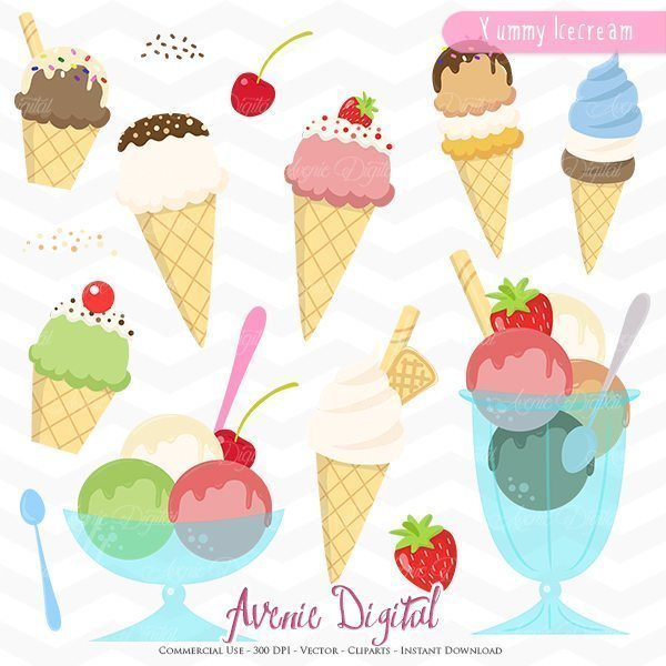 Yummy Icecream Clipart  Avenie Digital    Mygrafico