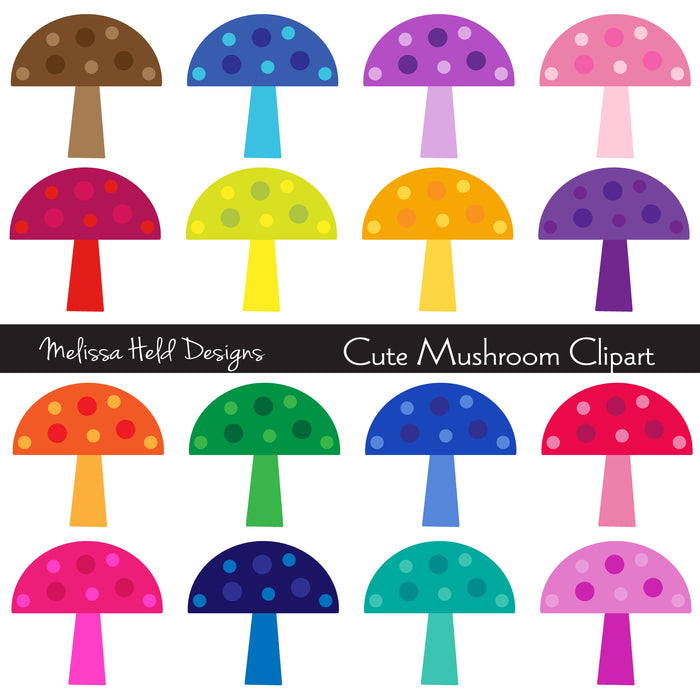 Cute Mushroom Clipart Cliparts Melissa Held Designs    Mygrafico