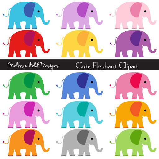 Cute Elephant Clipart Cliparts Melissa Held Designs    Mygrafico