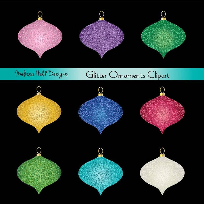 Glitter Christmas Ornaments Cliparts Melissa Held Designs    Mygrafico