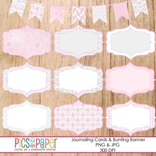 Journal Tags- Baby Girl  Pics and Paper    Mygrafico