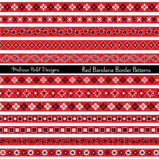 Red Bandana Border Patterns Clipart Cliparts Melissa Held Designs    Mygrafico