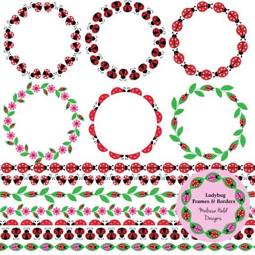Ladybug Digital Frames and Borders Cliparts Melissa Held Designs    Mygrafico