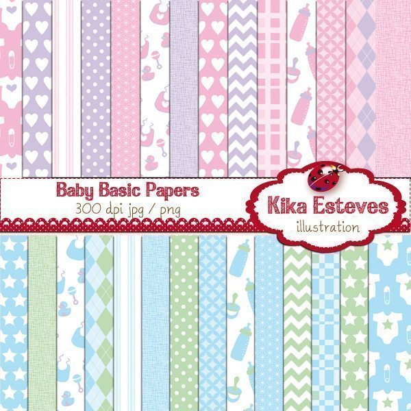 Baby Basic Papers  Kika Digital    Mygrafico