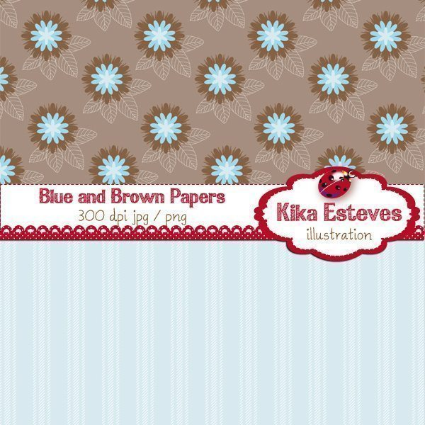 Blue and Brown Papers  Kika Digital    Mygrafico