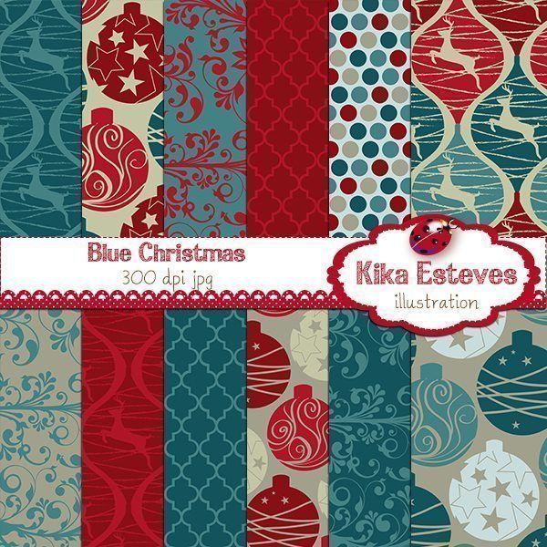 Blue Christmas  Kika Digital    Mygrafico
