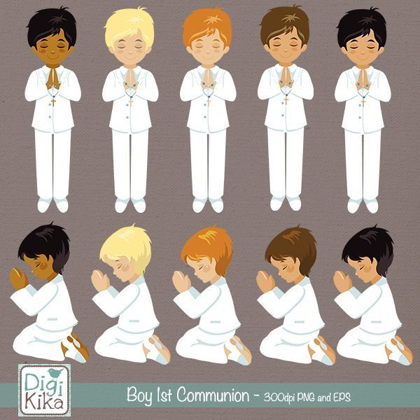 Boy First Communion Clip Art  Kika Digital    Mygrafico