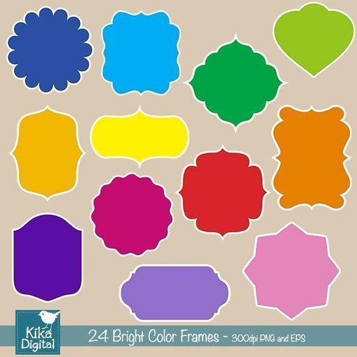 Bright Color Frames  Kika Digital    Mygrafico