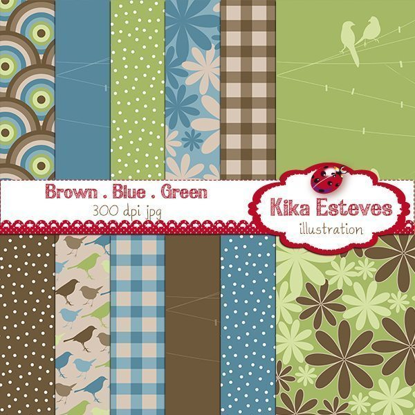 Brown Blue Green Papers  Kika Digital    Mygrafico