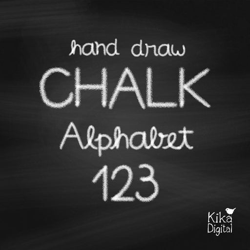 Hand Draw Chalk Alphabet  Kika Digital    Mygrafico
