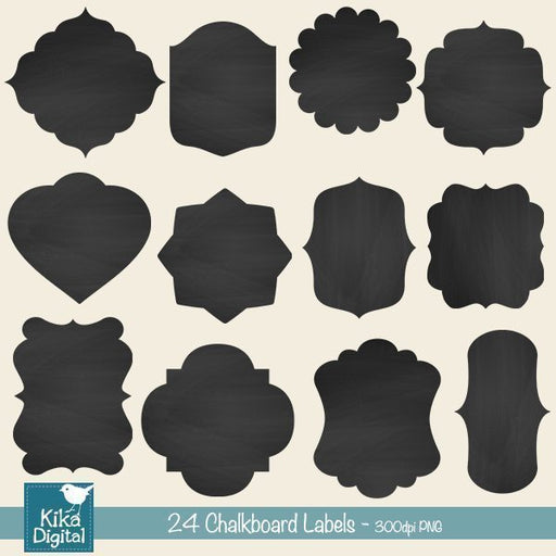 Chalkboard Labels  Kika Digital    Mygrafico
