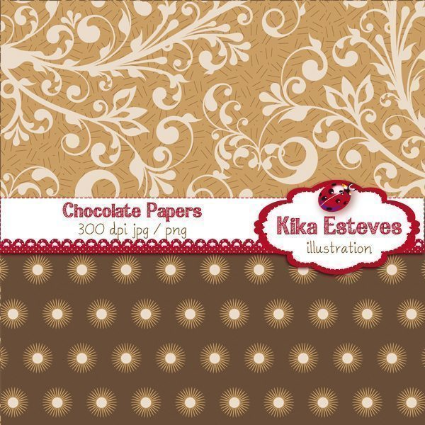 Chocolate Papers  Kika Digital    Mygrafico