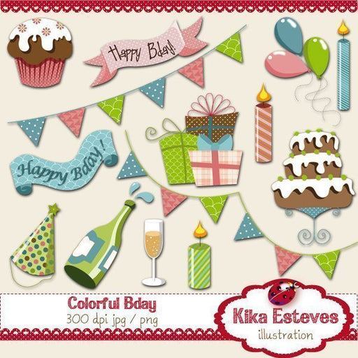 Colorful Birthday  Kika Digital    Mygrafico