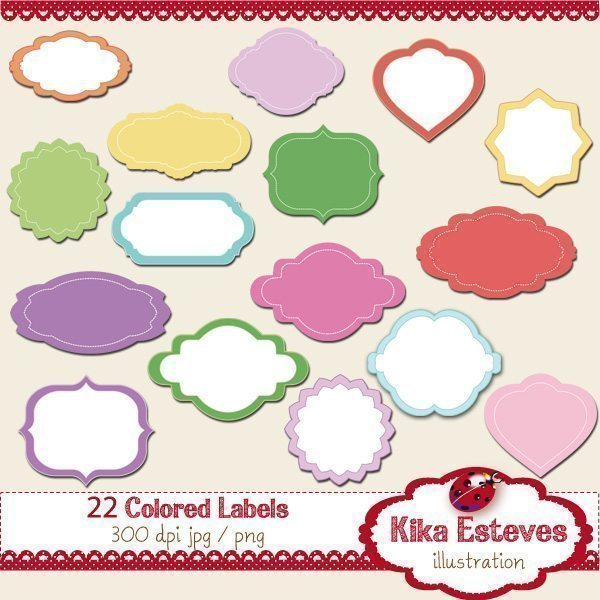 22 Colorful Labels Printable Templates Kika Digital    Mygrafico