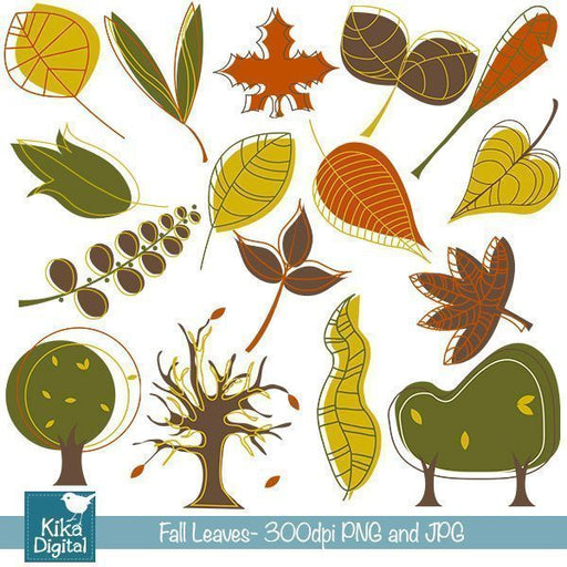 Autumn Leaves Clipart  Kika Digital    Mygrafico