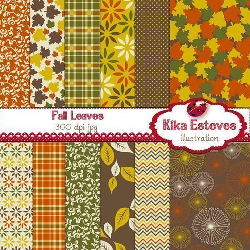 Fall Papers Digital Papers & Backgrounds Kika Digital    Mygrafico