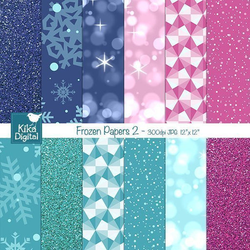 Frozen Digital Papers2  Kika Digital    Mygrafico