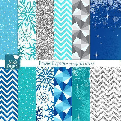Frozen Inspired Papers  Kika Digital    Mygrafico