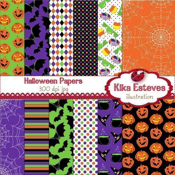 Halloween Papers  Kika Digital    Mygrafico