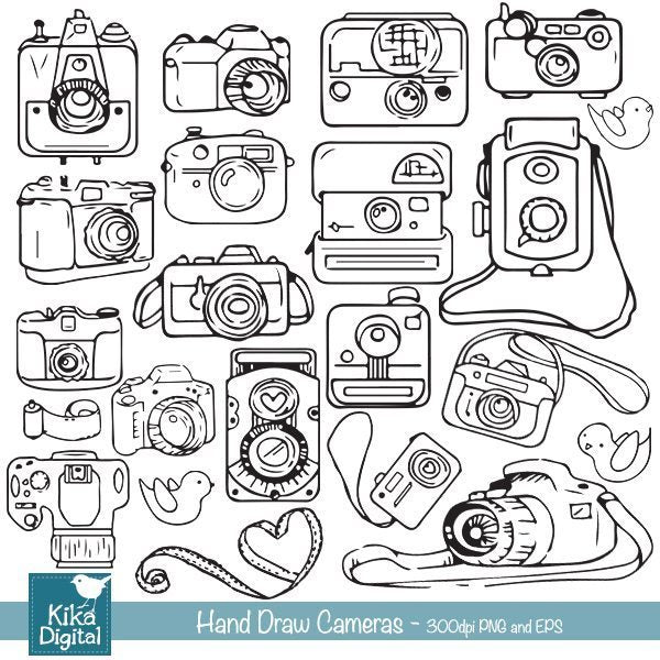 Hand Drawn Cameras  Kika Digital    Mygrafico