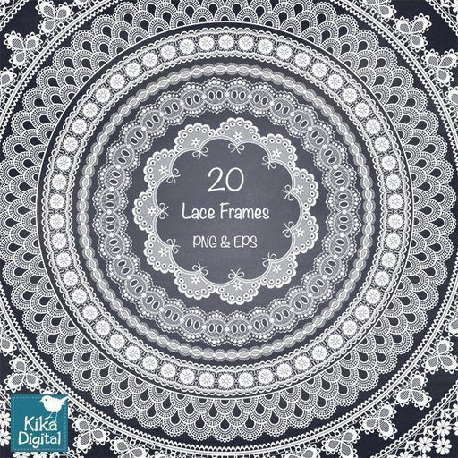 Lace Circle Frames II Clipart Kika Digital    Mygrafico