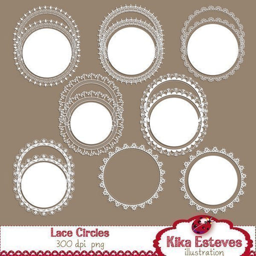 Lace Circle Frames  Kika Digital    Mygrafico