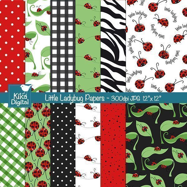 Little Ladybug Papers  Kika Digital    Mygrafico