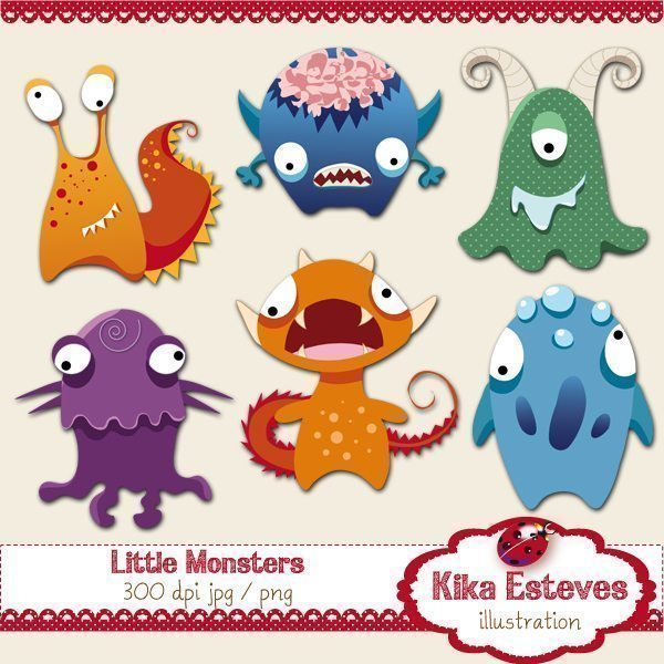 Little Monsters  Kika Digital    Mygrafico