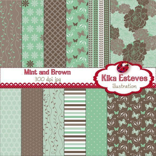 Mint and Brown  Kika Digital    Mygrafico