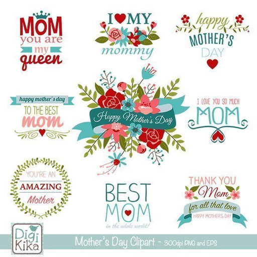 Mothers Day Clipart Cliparts Kika Digital    Mygrafico
