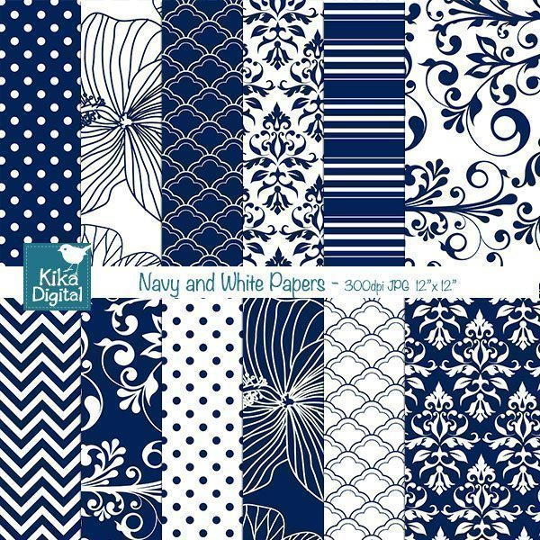 Navy and White Papers  Kika Digital    Mygrafico