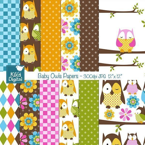 Baby Owl Papers  Kika Digital    Mygrafico