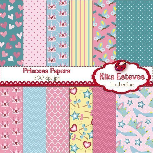 Pink Princess Papers  Kika Digital    Mygrafico