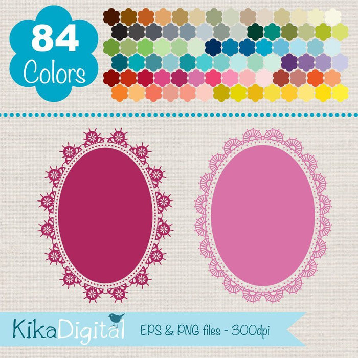 Rainbow Oval Lace Huge Pack  Kika Digital    Mygrafico