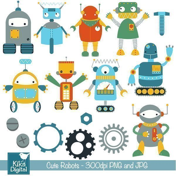 Cute Robots  Kika Digital    Mygrafico