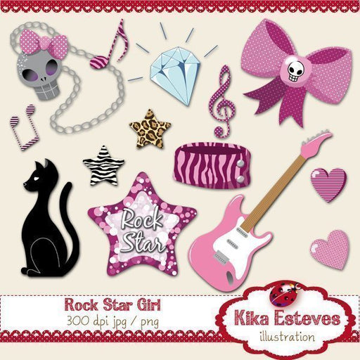 Rock Star Girl Cliparts Kika Digital    Mygrafico