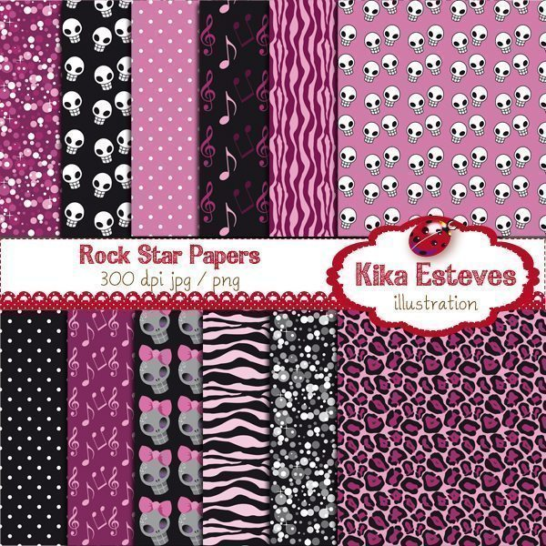 Rock Star Papers  Kika Digital    Mygrafico