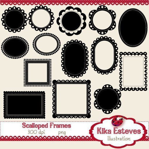 Scalloped Frames  Kika Digital    Mygrafico