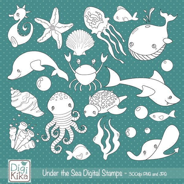 Under the Sea Digital Stamp  Kika Digital    Mygrafico