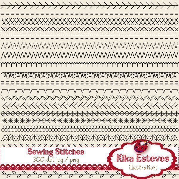 44 Sewing Stitches Clipart Clipart Kika Digital    Mygrafico