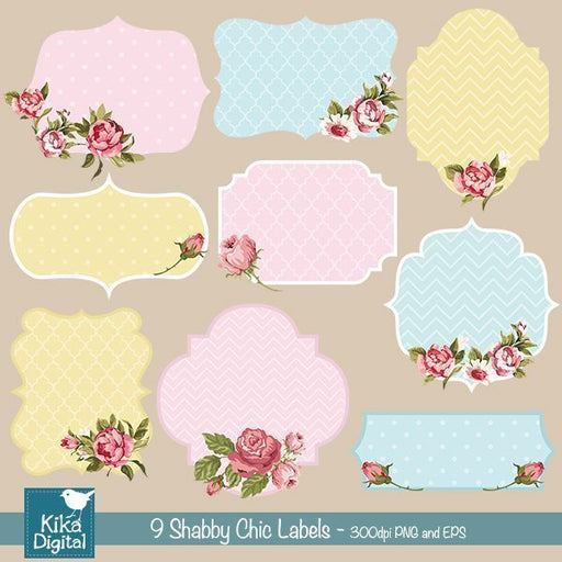 Shabby Chic Labels  Kika Digital    Mygrafico