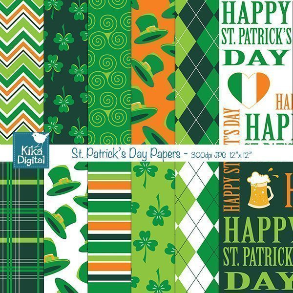 St. Patrick Papers  Kika Digital    Mygrafico