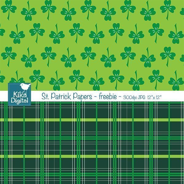 St.Patrick Papers Freebie  Kika Digital    Mygrafico