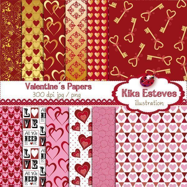 Valentine's Papers  Kika Digital    Mygrafico