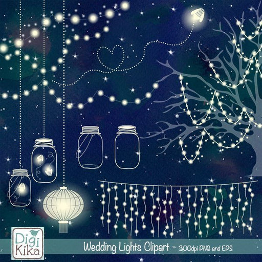 Wedding Lights Clipart  Kika Digital    Mygrafico