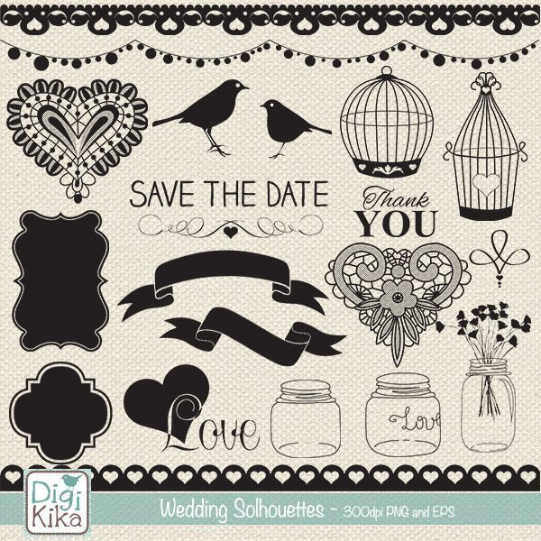 Wedding Silhouettes  Kika Digital    Mygrafico