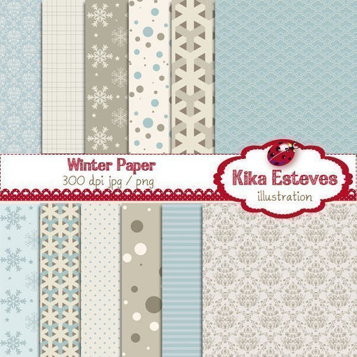 Winter Papers  Kika Digital    Mygrafico