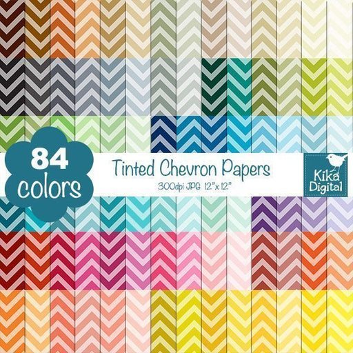 Rainbow Tinted Chevron Huge Paper Pack  Kika Digital    Mygrafico